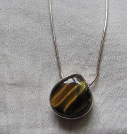 Necklace silver tiger eye