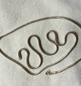 Necklace silver snake 1
