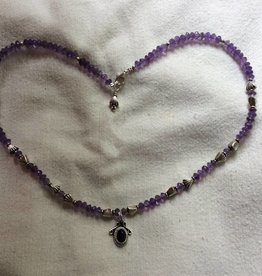 Necklace silver amethyst