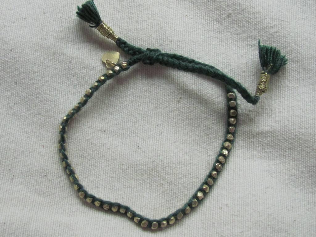 Bracelet gold on silver friendship