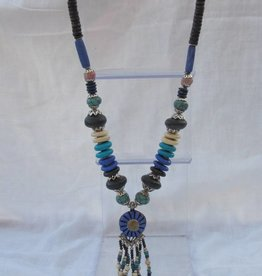 Necklace with beaded tassel
