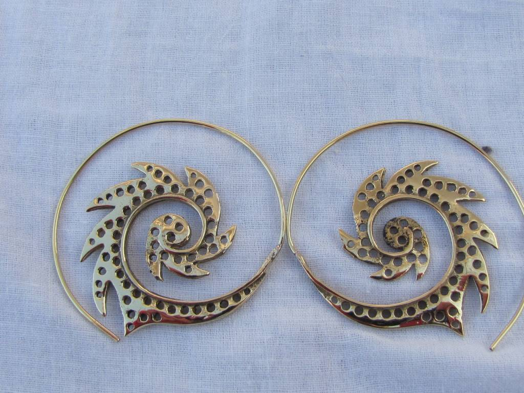 Earring curly wirly tribal bohemian