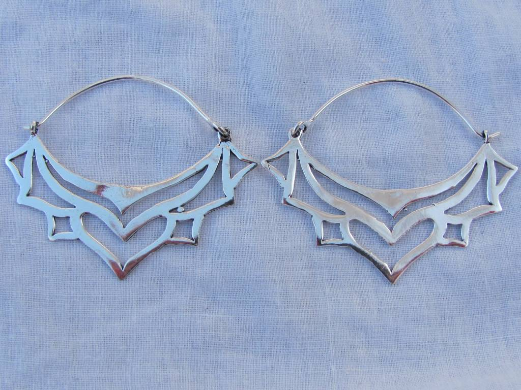Earring silver colour