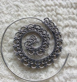 Spiral bohemian earrings  gypsy style