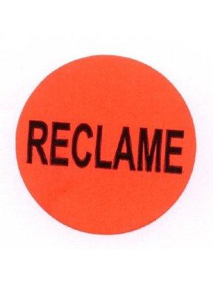 Etiket 35mm rood reclame etiket