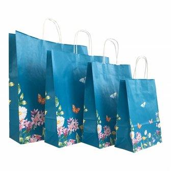 50x Papieren tassen Type Vlinder/Bloemen