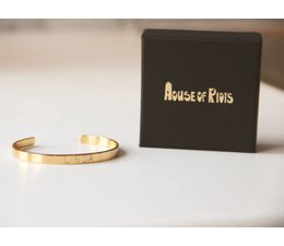 PERSONAL * LOVE armband goud