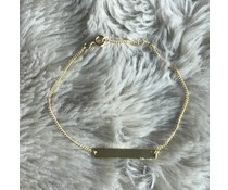 PERSONAL * BAR armband goud