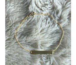 PERSONAL * BAR bracelet gold