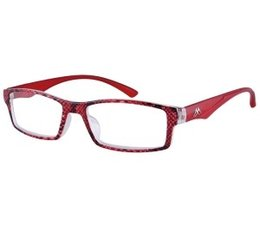 Stijlvolle dames leesbril in crystal rood