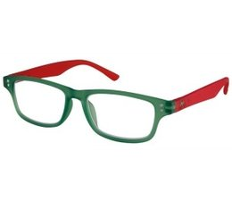 Moderne unisex leesbril groen/rood