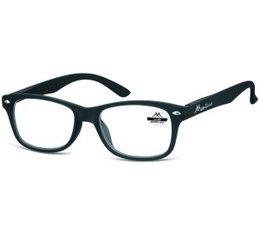 Wayfarer model leesbril in mat zwart