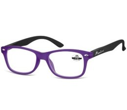 Wayfarer leesbril in lila met zwart