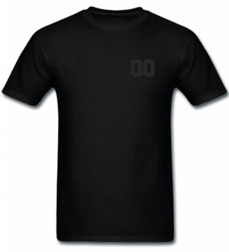 CUSTOM TEAM NUMBER TEE ALL BLACK EDITION (MEN)