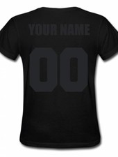 CUSTOM TEAM NUMBER TEE ALL BLACK EDITION (WMN)