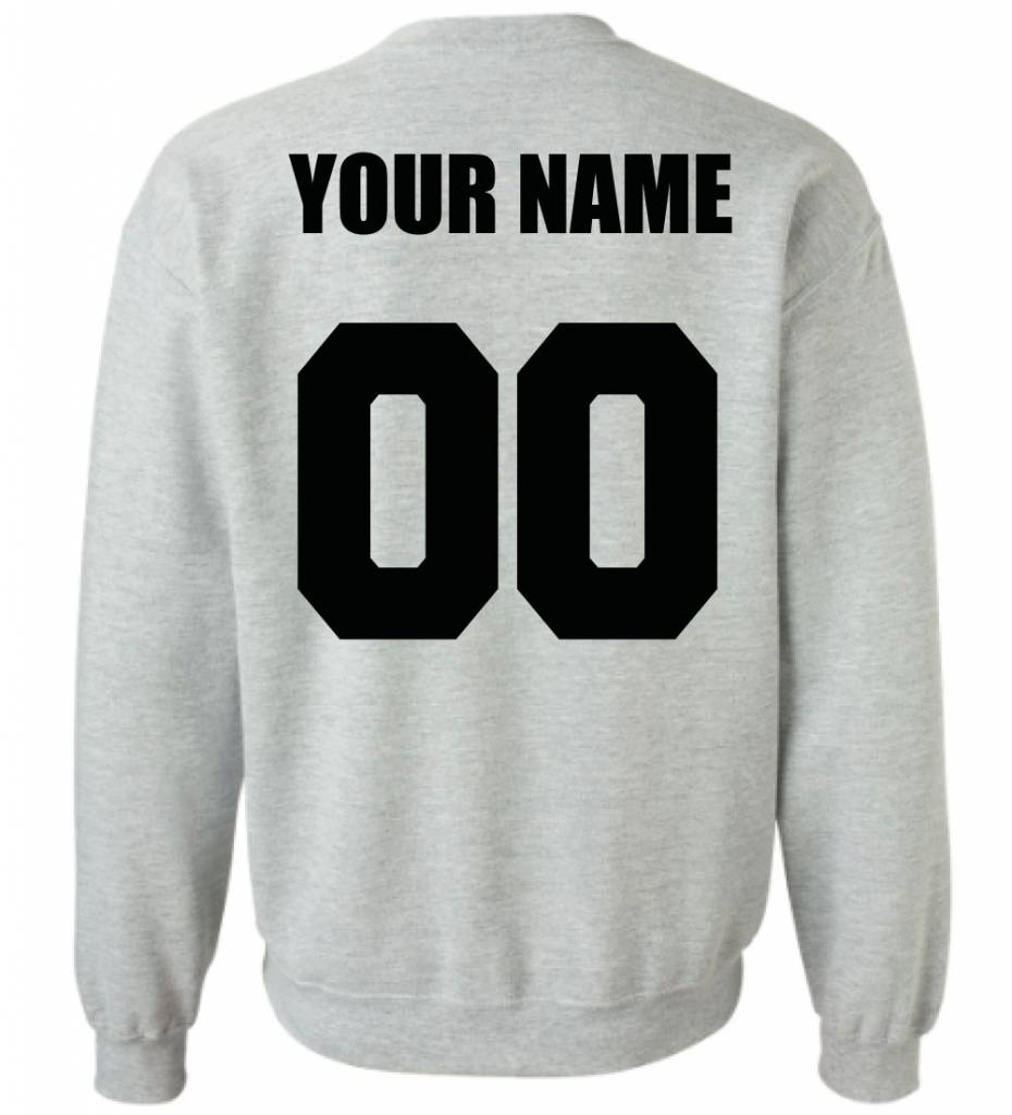 CUSTOM TEAM NUMBER SWEATER (MEN)
