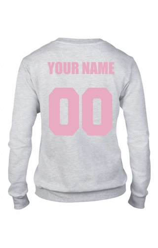 CUSTOM TEAM NUMBER SWEATER PINK EDITION (WMN)