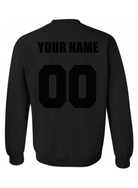 CUSTOM TEAM NUMBER SWEATER ALL BLACK EDITION (MEN)
