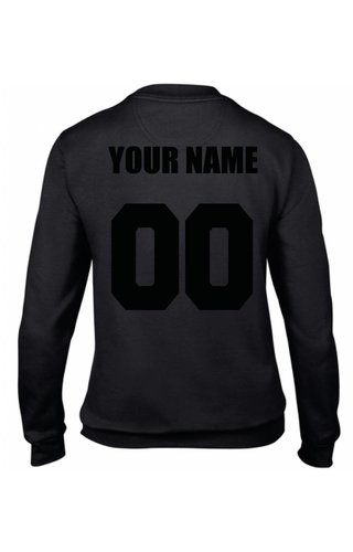 CUSTOM TEAM NUMBER SWEATER ALL BLACK EDITION (WMN)