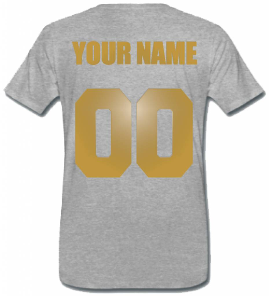 CUSTOM TEAM NUMBER TEE GOLD EDITION (MEN)