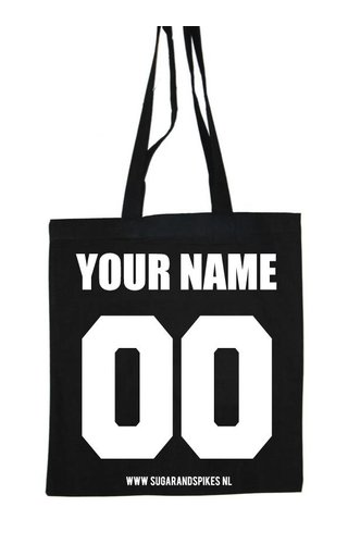 CUSTOM TEAM NUMBER COTTON BAG