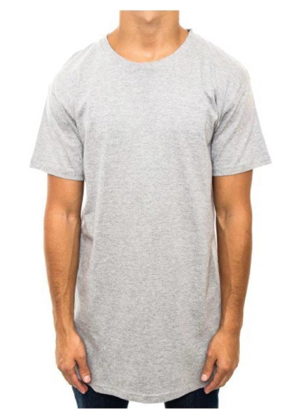 BASIC LONG TEE GREY (MEN)