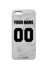 CUSTOM TEAM NUMBER CASE MARBLE GREY