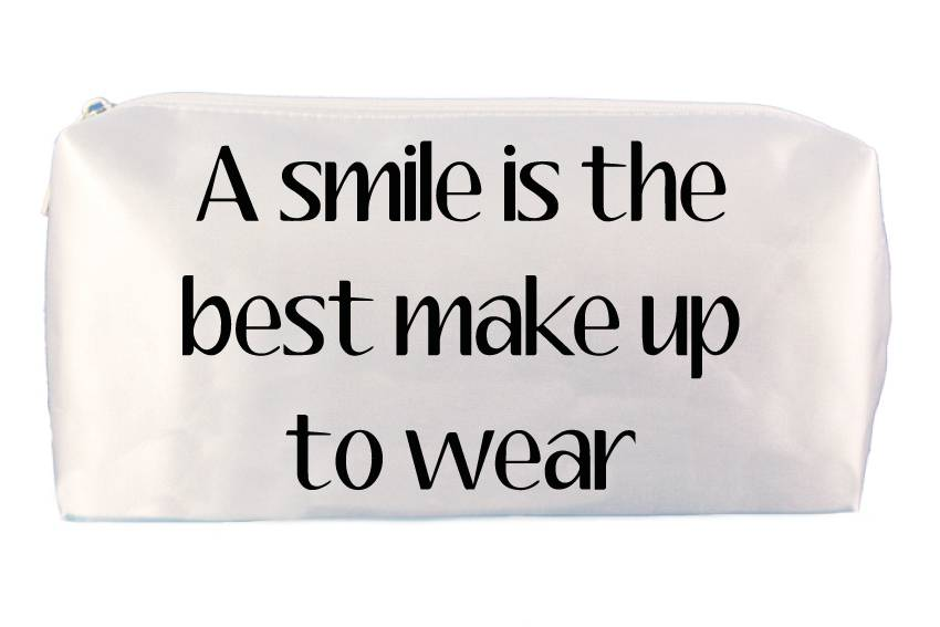 A Smile Is The Best Make Up Bag Sugarspikes