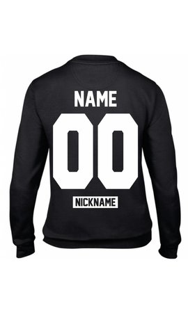 CUSTOM TEAM NUMBER NICKNAME SWEATER (WMN)