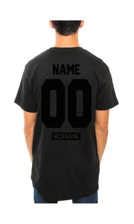 CUSTOM TEAM NUMBER LONG TEE ALL BLACK EDITION (UNISEX)