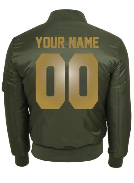 CUSTOM TEAM NUMBER BOMBER JKT GOLD EDITION (WMN)