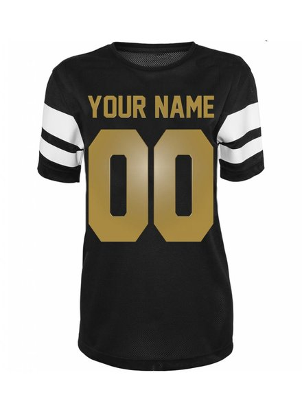 CUSTOM TEAM NUMBER MESH TEE GOLD EDITION (WMN)