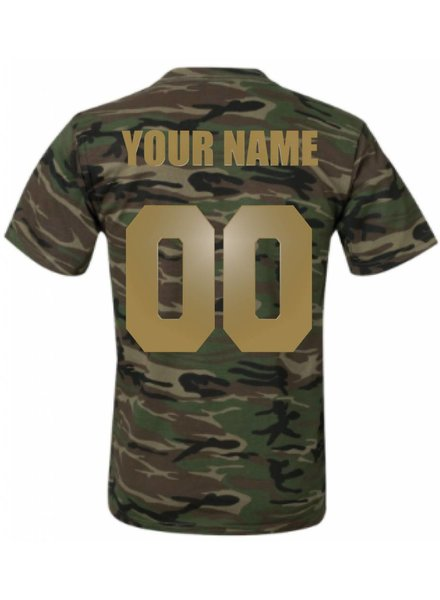 CUSTOM TEAM NUMBER TEE ARMY GOLD EDITION