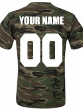 CUSTOM TEAM NUMBER TEE ARMY EDITION (MEN)