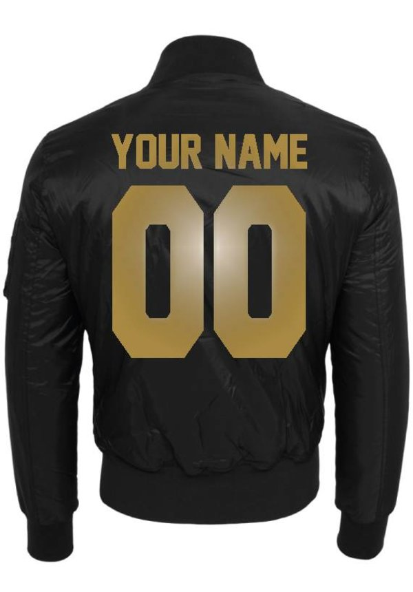 CUSTOM TEAM NUMBER BOMBER JKT GOLD EDITION (MEN)