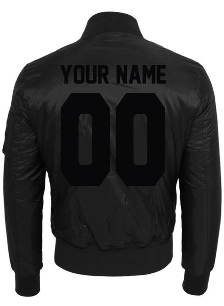 CUSTOM TEAM NUMBER BOMBER JKT ALL BLACK EDITION (WMN)