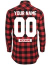 CUSTOM TEAM NUMBER SIDE-ZIP LONG FLANNEL SHIRT (MEN)