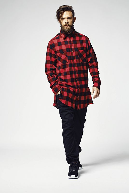 CUSTOM TEAM NUMBER SIDE-ZIP LONG FLANNEL SHIRT (MEN) - SUGAR&spikes