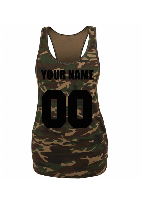 CUSTOM TEAM NUMBER ARMY TANKTOP (WMN)