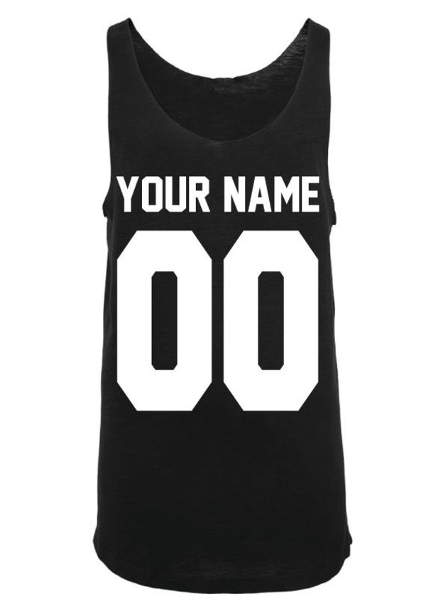 CUSTOM TEAM NUMBER LONG TANKTOP (MEN)