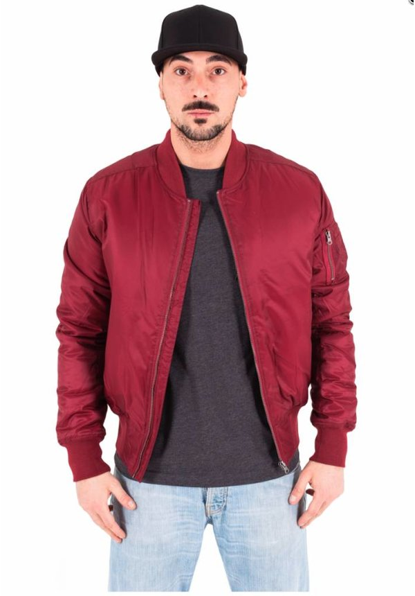 BASIC BOMBER JKT BURGUNDY (MEN)
