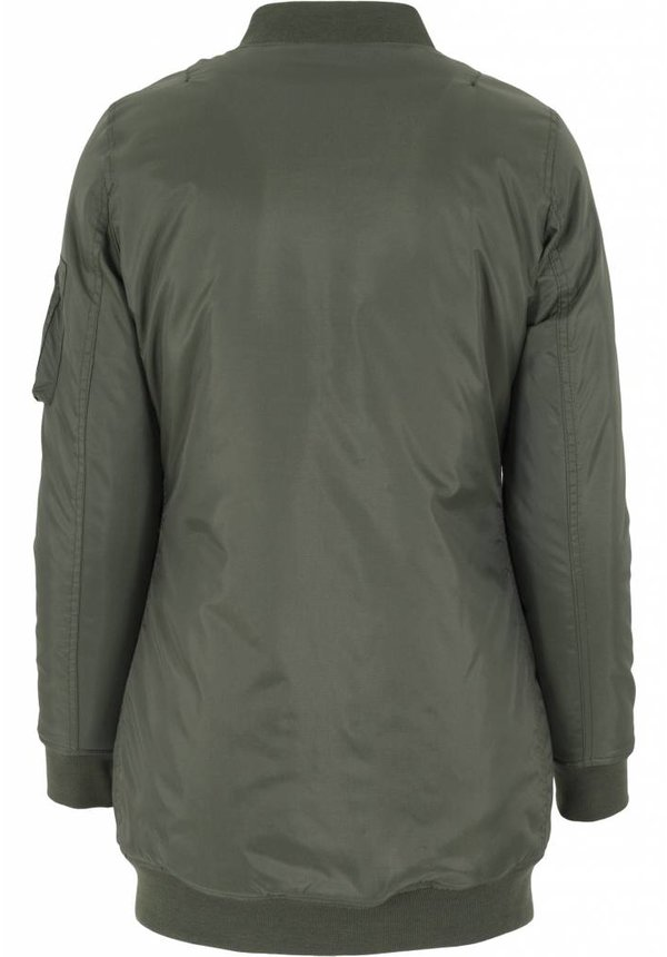 BASIC LONG BOMBER JKT OLIVE (WMN)