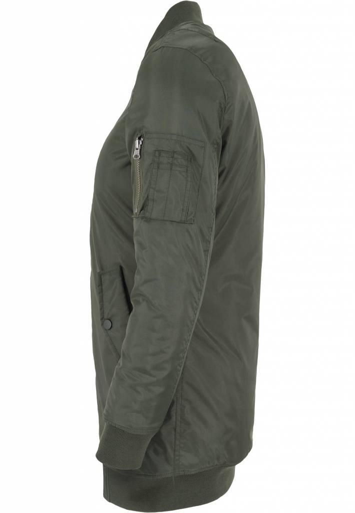 BASIC LONG BOMBER JKT OLIVE (WMN)