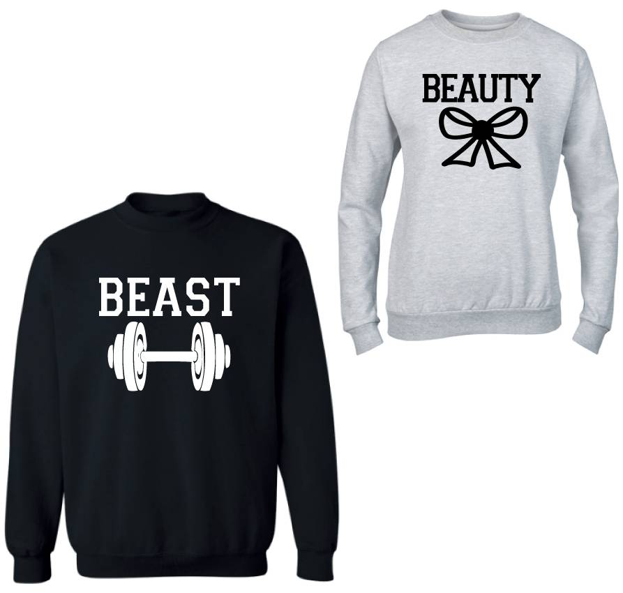 Beauty Beast Couple Sweaters Sugarspikes