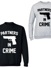 PARTNERS IN CRIME COUPLE SWEATERS