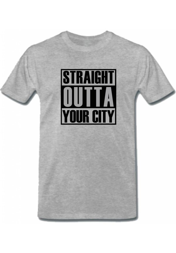 CUSTOM STRAIGHT OUTTA YOUR CITY TEE (MEN)