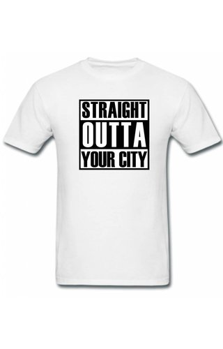 CUSTOM STRAIGHT OUTTA YOUR CITY TEE (MEN)