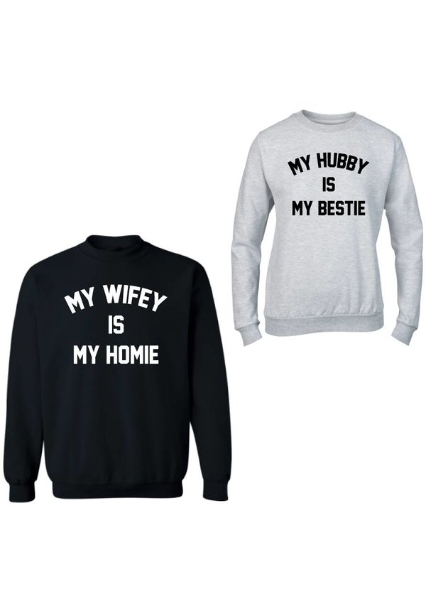 BESTIE HOMIE COUPLE SWEATERS