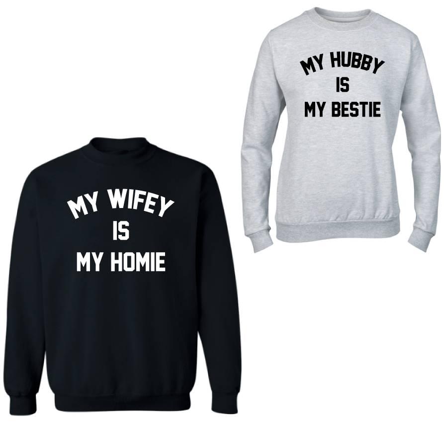 BESTIE HOMIE COUPLE SWEATERS