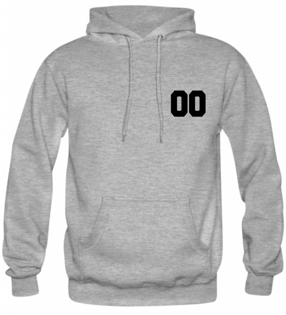 CUSTOM TEAM NUMBER HOODY (UNISEX)